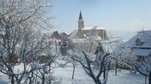 Le village enneigé
